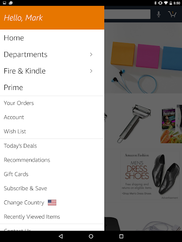 Amazon for Tablets Android App Screenshot