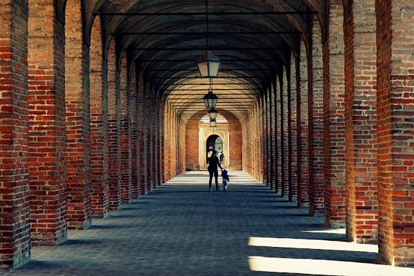 Il portico del borgo di Furlissima