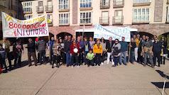 Concentración de Stop Macrogranjas, este lunes en Huércal-Overa.