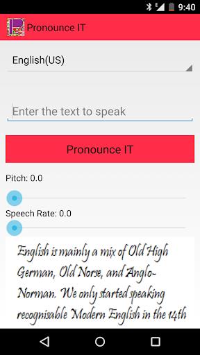 Pronounce IT