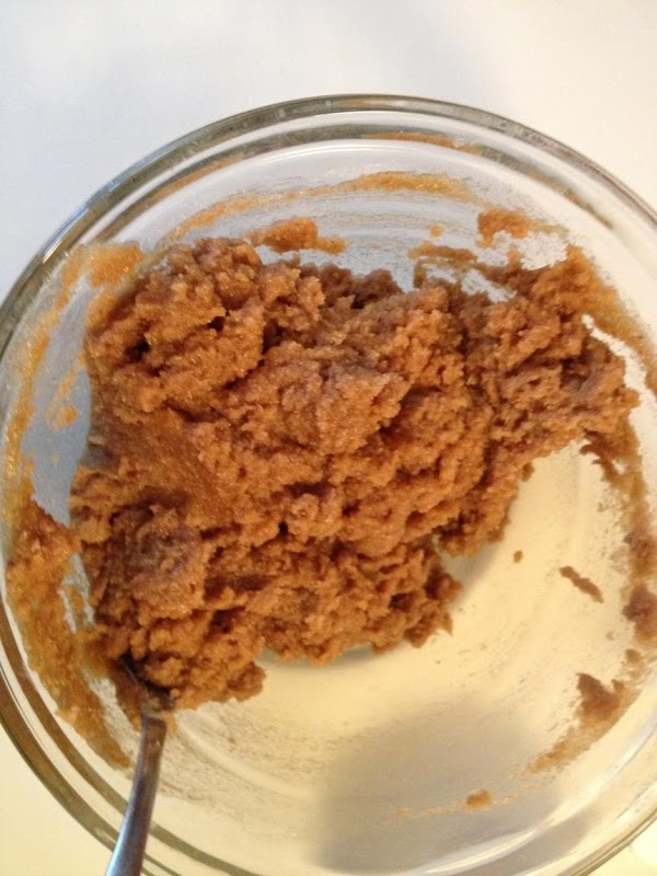 Preheat oven to 350.  Prepare streusel topping by combining all ingredients. Cream together...