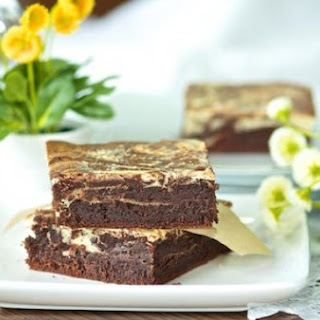 Fudgy chocolate cream cheese brownies with Baileys