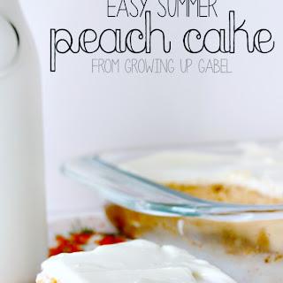 Easy Summer Peach Cake.