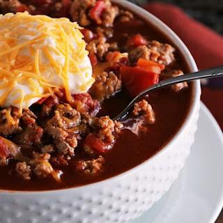 Light Crock Pot Spicy Turkey Chili.