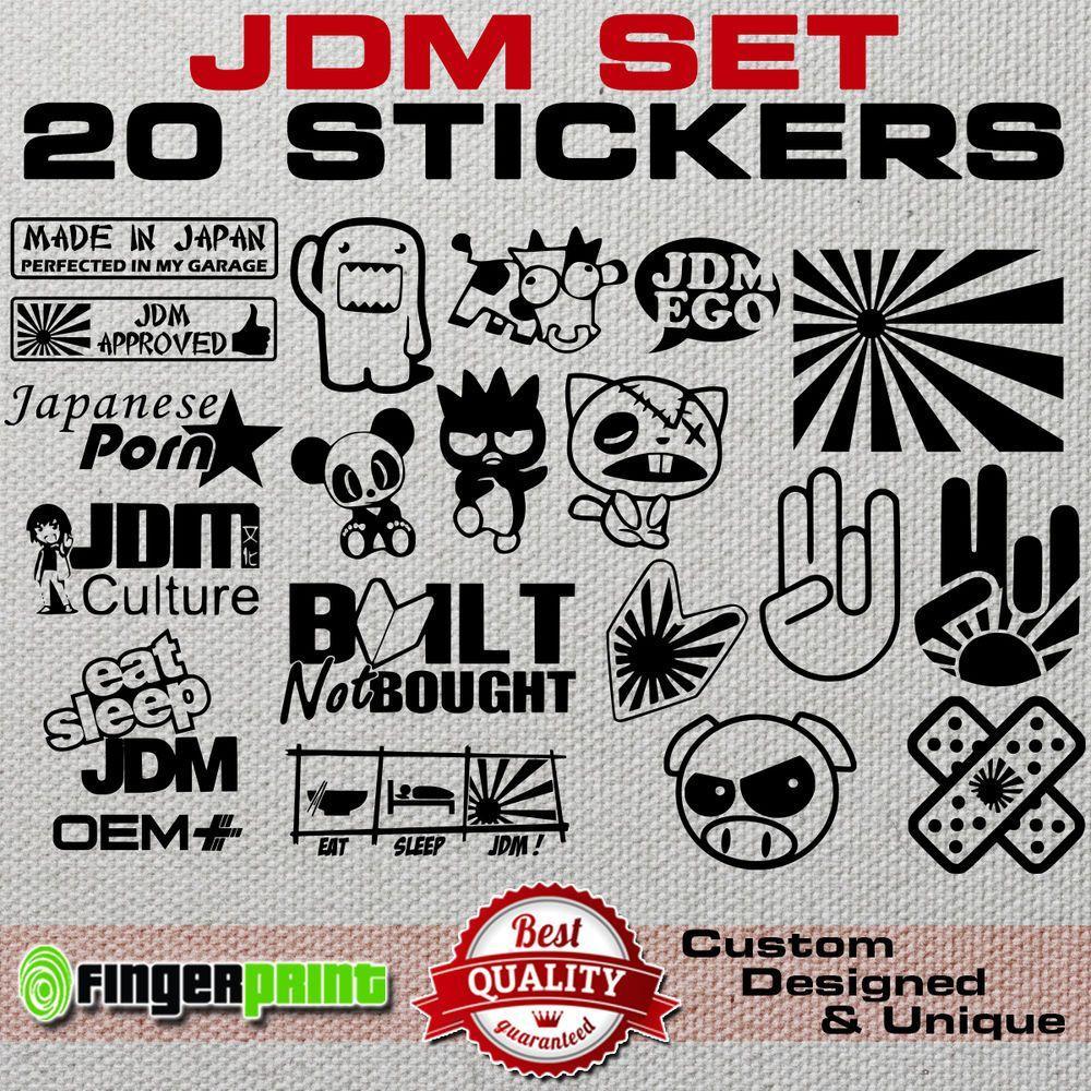 Details about JDM DECAL SET sticker vinyl stickerbomb illest hella stance  low life honda japan | Funny bumper stickers, Jdm stickers, Stickers