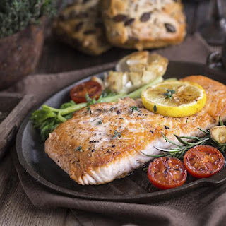 Roasted Salmon Fillets.