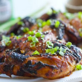 Grilled Game Hens with Asian BBQ Sauce #ad