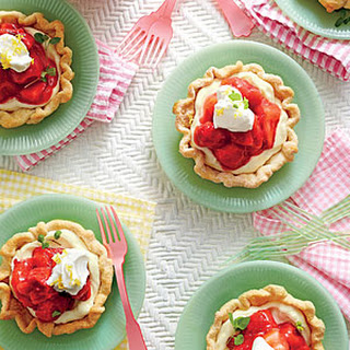 Mile-High Mini Strawberry Pies.
