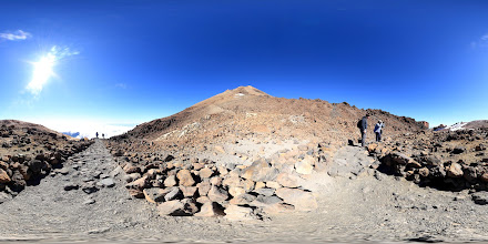Photo: Panorama captured at a kink in the path just to the west of the upper teleferico station on Mount Teide in Tenerife.