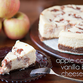 Apple Compote Vanilla Bean Cheesecake