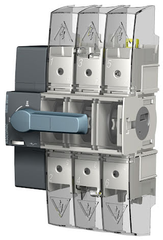 Lastbrytare 3x160A, DIN-skenemontage