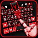 Black Red Tech Keyboard Theme icon