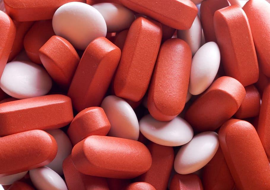 red, pills, background, care, closeup, cold, color, diet, health, healthy