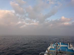 Photo: 久しぶりのジギング釣行です! ・・・道中、霧がすごいです。