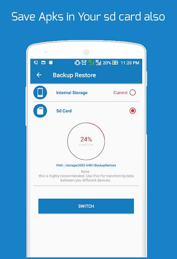 Backup and Restore - App, Contacts, Sms , Calllogs 2.0.50.98 screenshots 6