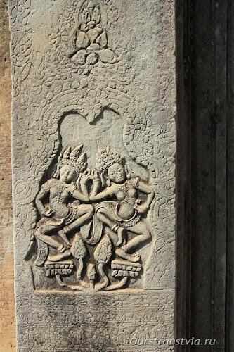 Апсары в Преа Кхан, храмы Ангкора