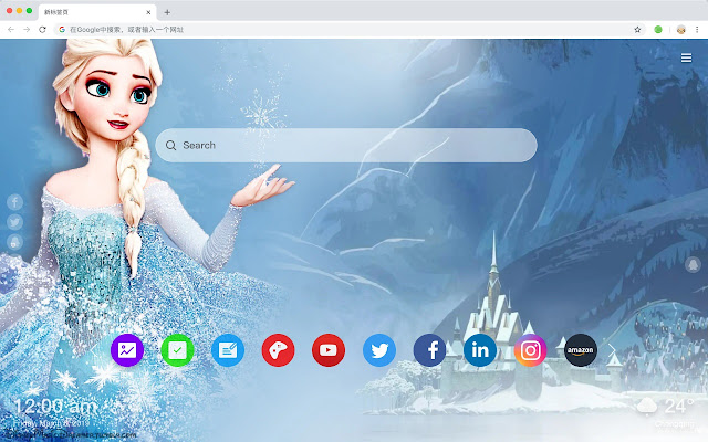 Frozen Popular Movies New Tabs HD Themes
