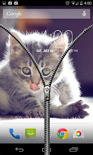 Free Transparent Zipper Screen Lock APK for Android