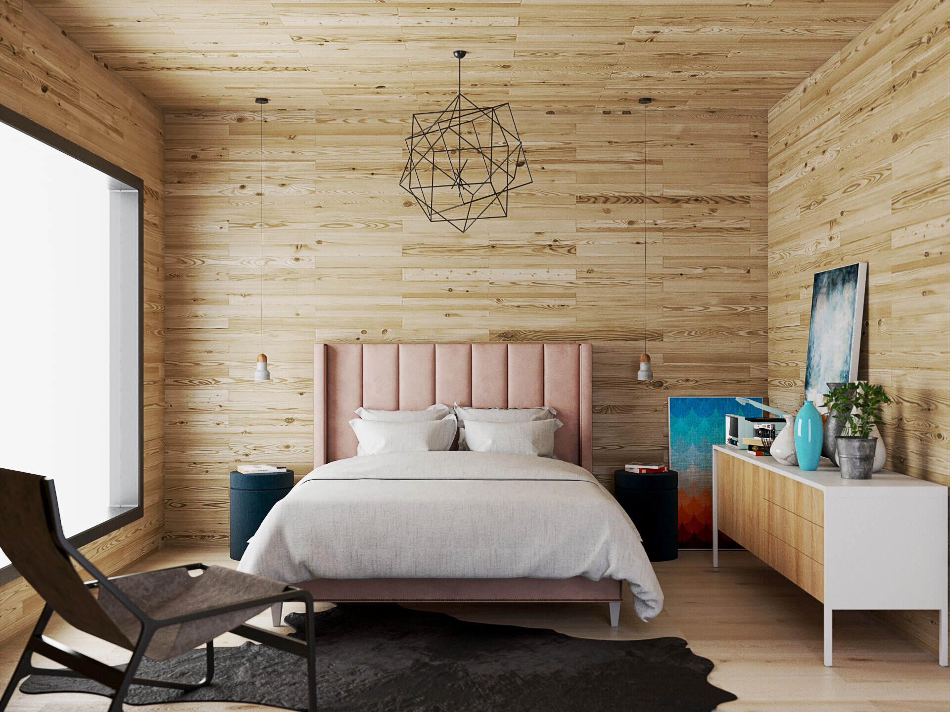 Distressed Wood Makes A Scandinavian Vibe