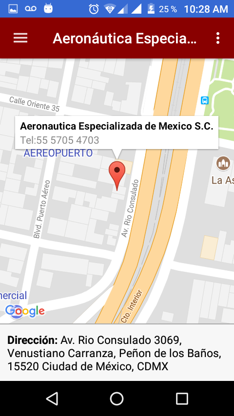 Aeronáutica Especializada de México- screenshot
