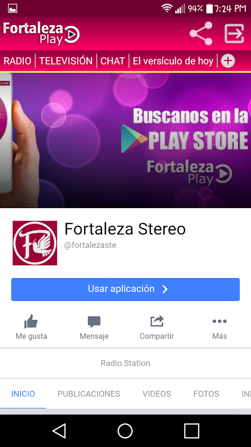 Fortaleza Play: captura de pantalla