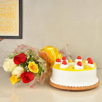 Flowers and Cake Combo Delivery | Online Combos of Flowers & Cakes - Indiagift