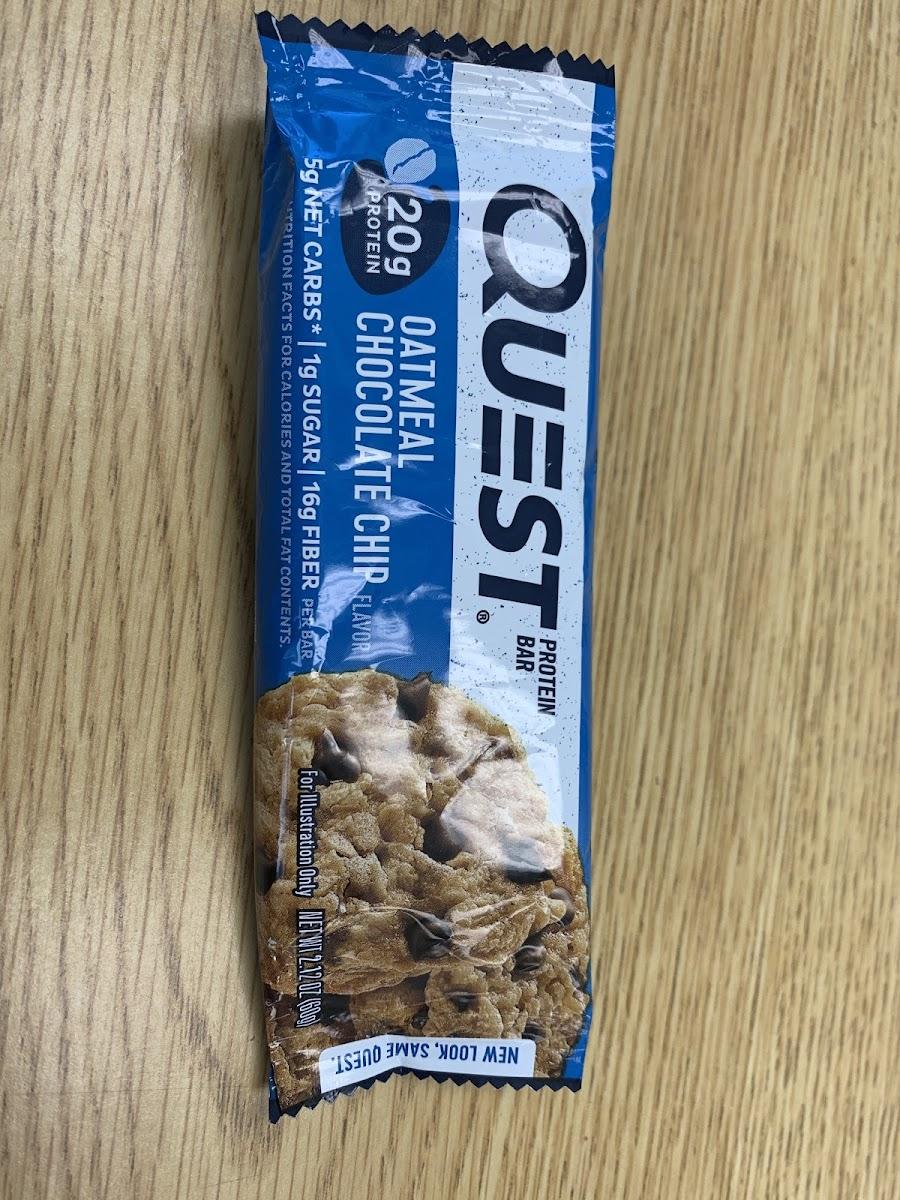 Quest bar oatmeal chocolate chip