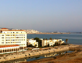 Photo: View from Susan and Mimoun's apartment in Tangier, overlooking the Mediterranean.