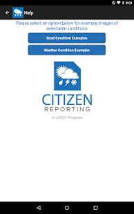 UDOT Citizen Reports- screenshot thumbnail