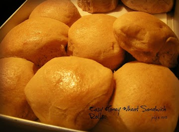 Easy (bread Machine!) Honey Wheat Sandwich Rolls Recipe