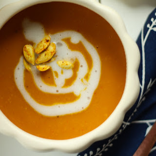 Roasted Pumpkin Coconut Curry Soup.