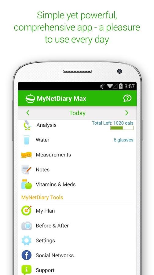MyNetDiary Calorie Counter PRO - screenshot