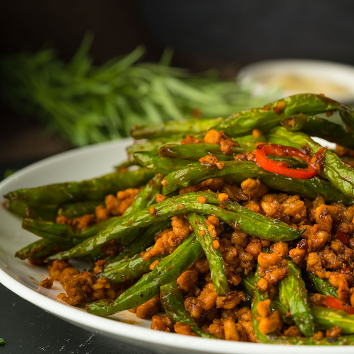 Spicy Pan Fried Green Bean with Minced Pork