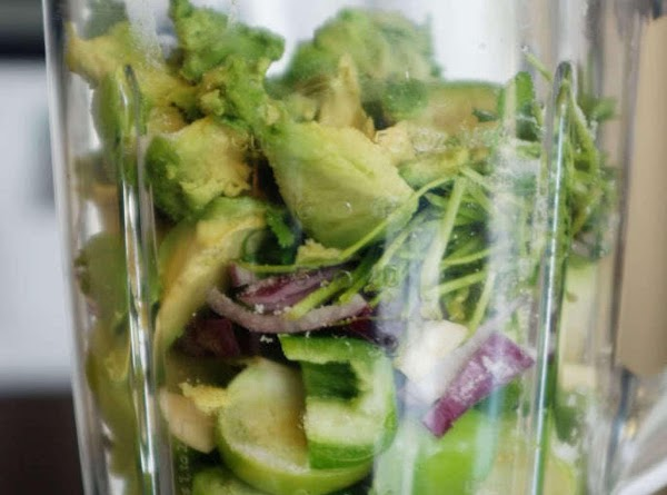 I start by scooping out and chop avocado, salt and squeeze lime juice over....