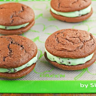 Mint Chocolate Chip Whoopie Pies.