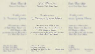 Invitación oficial del Presidente del Comité Olímpico Español al autor de este artículo.