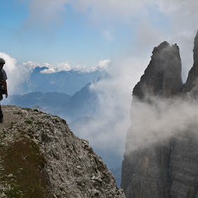 walk on the edge by  pemavis Photography - Landscapes Mountains & Hills ( climbing, adventure, mountain )