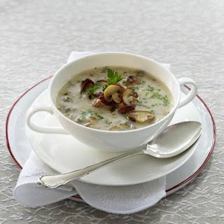 Creamy Wild Mushroom Soup.