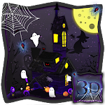 3D Spooky House Halloween Theme Icon