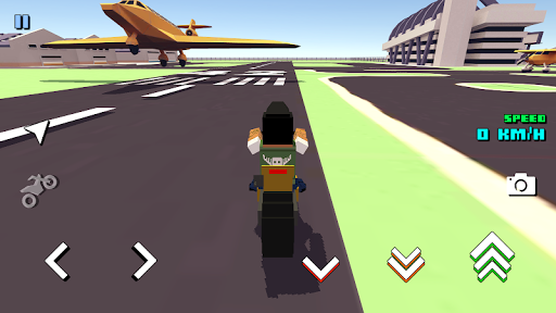 Blocky Moto Racing 🏁 - pilote moto APK MOD (Astuce) screenshots 4