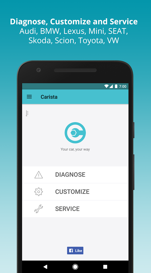 Carista OBD2- screenshot