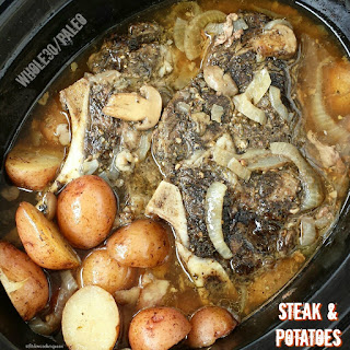 Slow Cooker Steak & Potatoes (Whole30, Paleo).