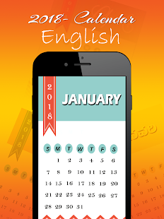 2018 Calendar : New Year 2018 [Telugu, Hindi, Eng] - náhled