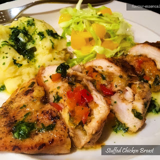 Stuffed Chicken Breast with Herbed Butter