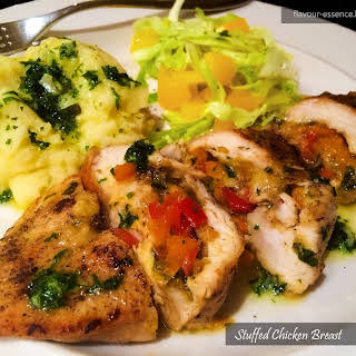 Stuffed Chicken Breast with Herbed Butter.