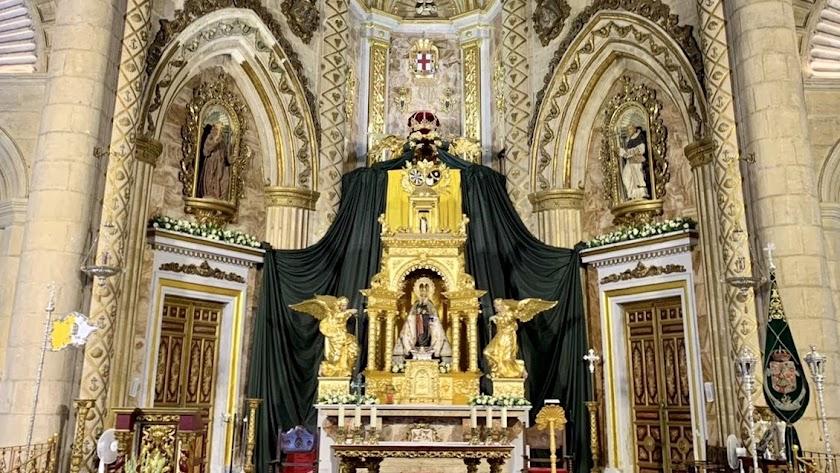 Altar de cultos para la Virgen del Mar en este 2020.