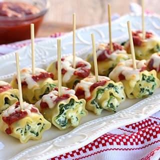 Fancy Mini Lasagna Rolls