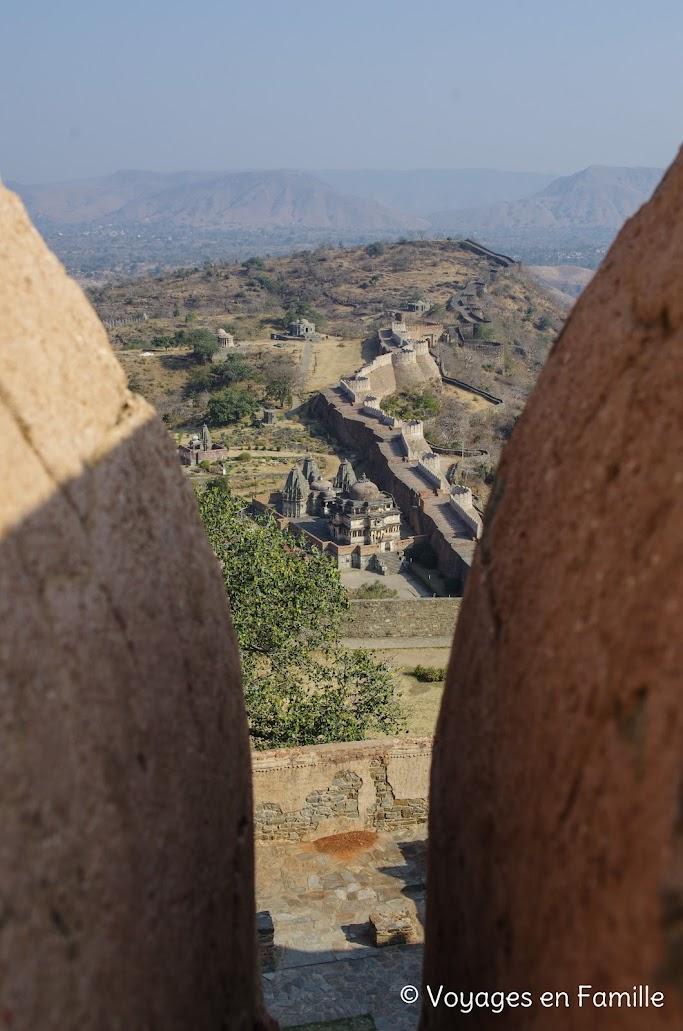 Kumbhalgarh, vue du haut