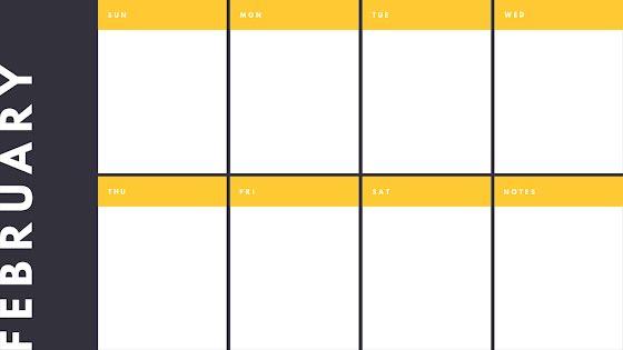 Dark Weekly - Calendar Template
