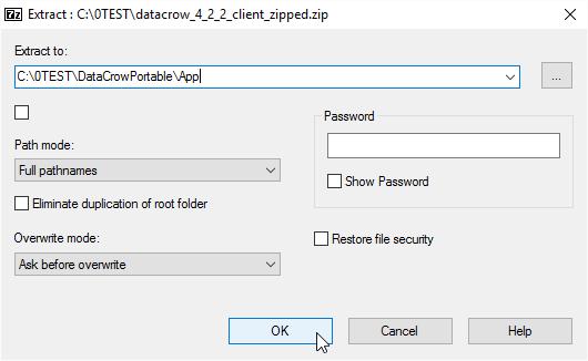 Into App folder